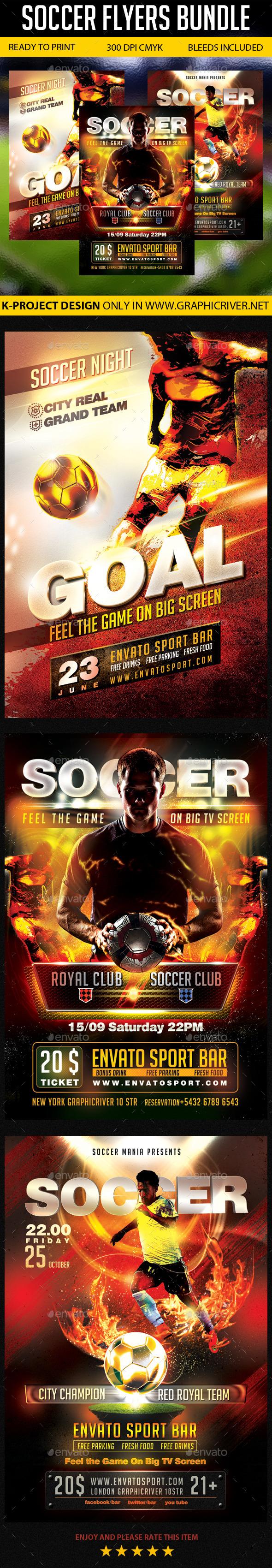 Soccer Flyers Bundle - Sports Events