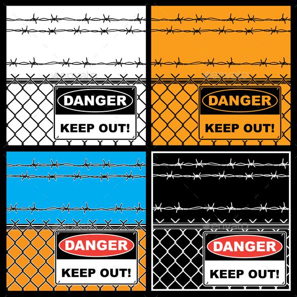 Danger Sign - Backgrounds Decorative