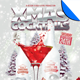 White Christmas Cocktail Party Flyer Template