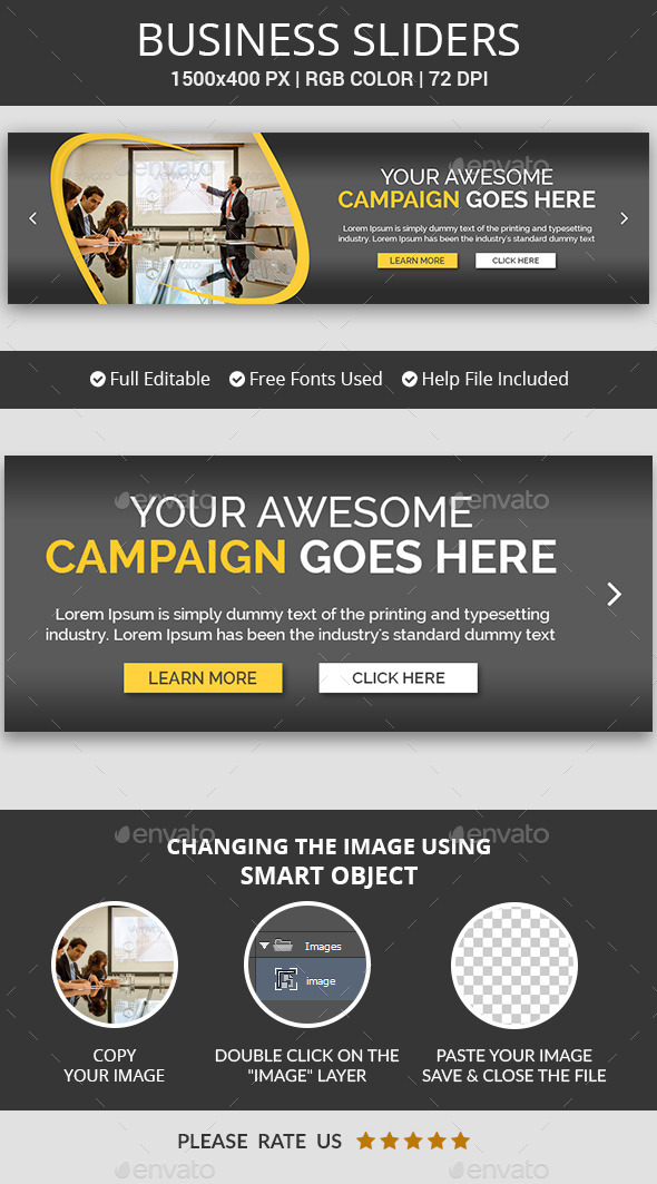 Business Campaign Sliders v16 - Sliders & Features Web Elements