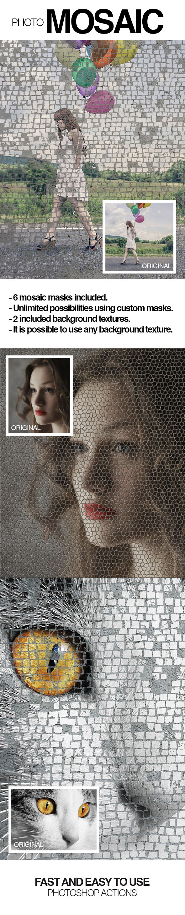 Photo Mosaic - Photo Effects Actions