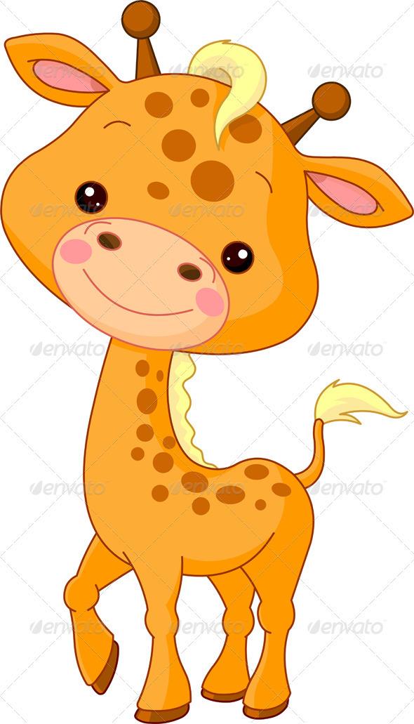 Fun zoo. Giraffe - Animals Characters