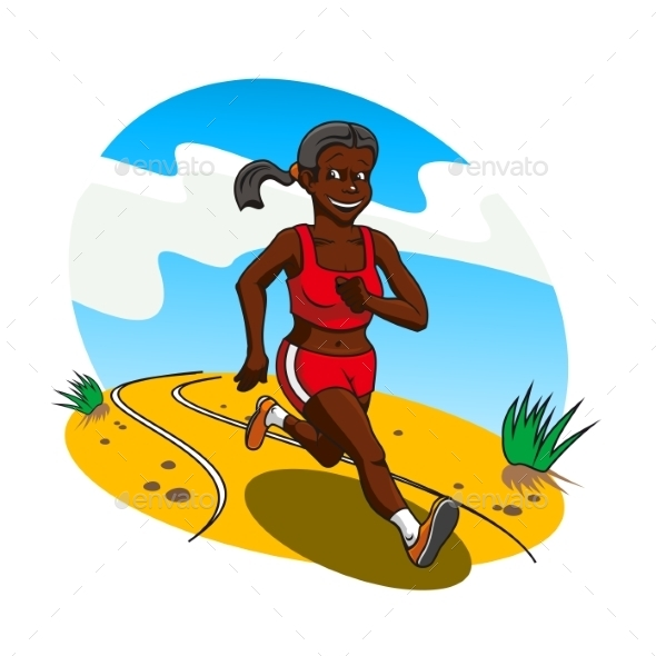Young Woman Cross Country Runner - Sports/Activity Conceptual