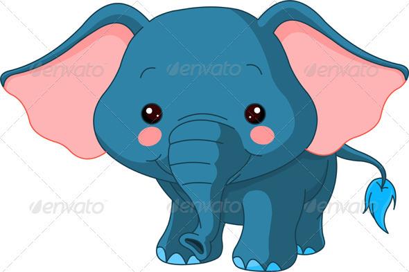 Fun zoo. Elephant - Animals Characters