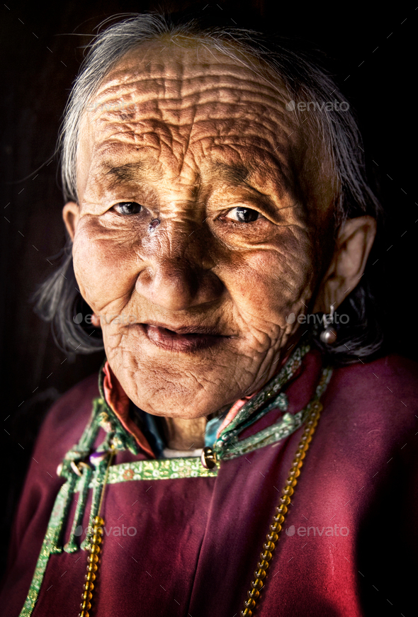 Mongolian Woman Traditional Dress Lifestyle Concept - Stock Photo - Images