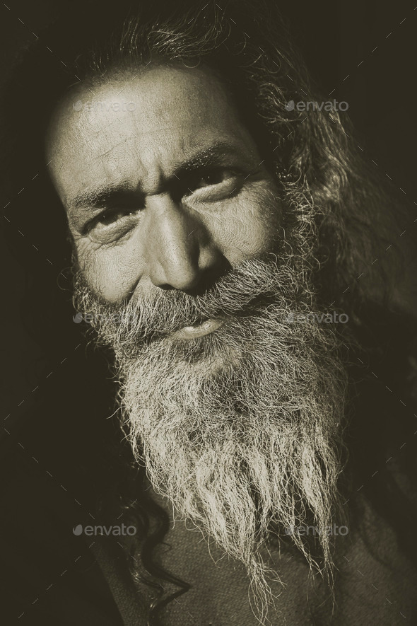 Indigenous Senior Indian Man Looking Camera Concept - Stock Photo - Images