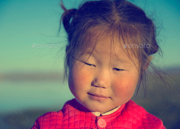 Cute Asian Girl Early Morning Facial Expression Concept - Stock Photo - Images
