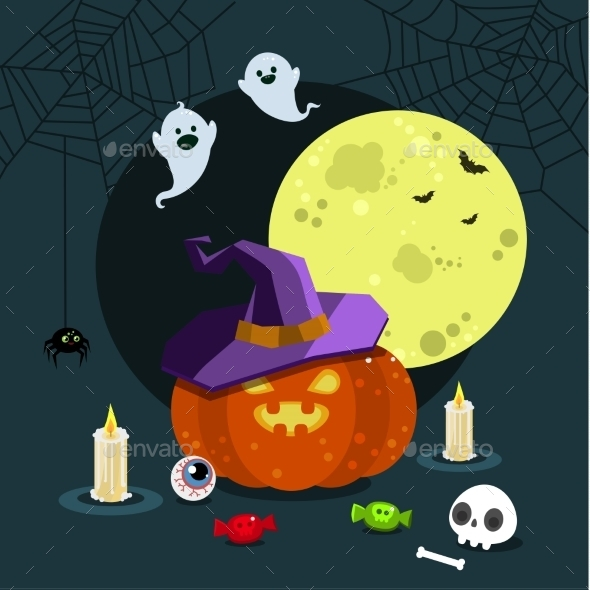 Halloween Illustration.  - Halloween Seasons/Holidays