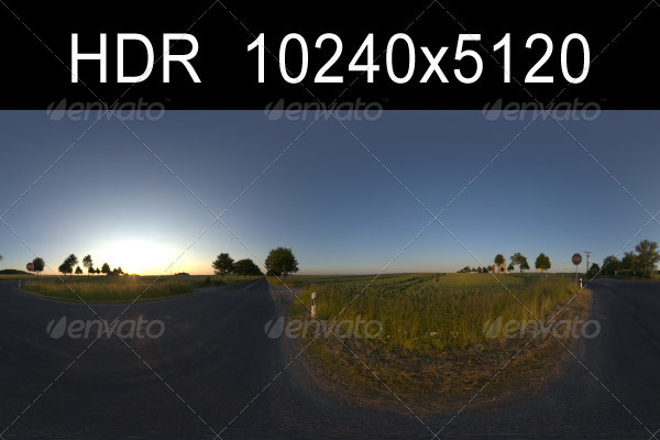 Road in Fields 2 with Plates - 3DOcean Item for Sale