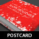 Festive Christmas Postcard Template - GraphicRiver Item for Sale