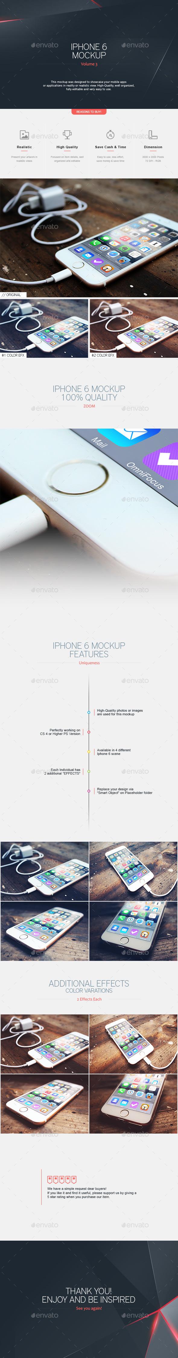 Iphone 6 Mockup V.3 - Mobile Displays