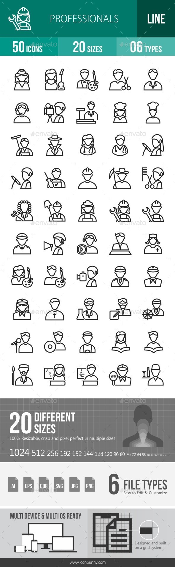 Professionals Line Icons - Icons