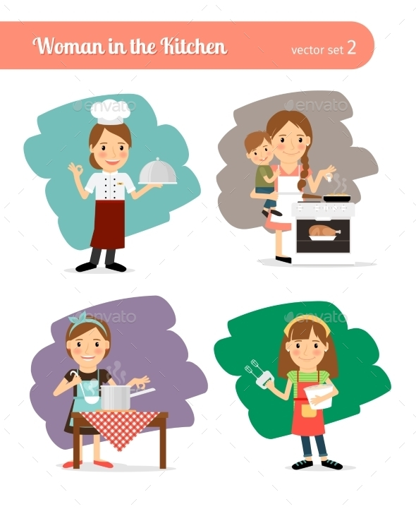 Woman In The Kitchen - People Characters