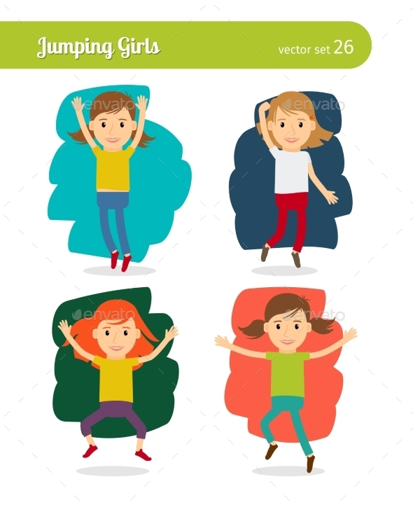 Jumping Girls - People Characters