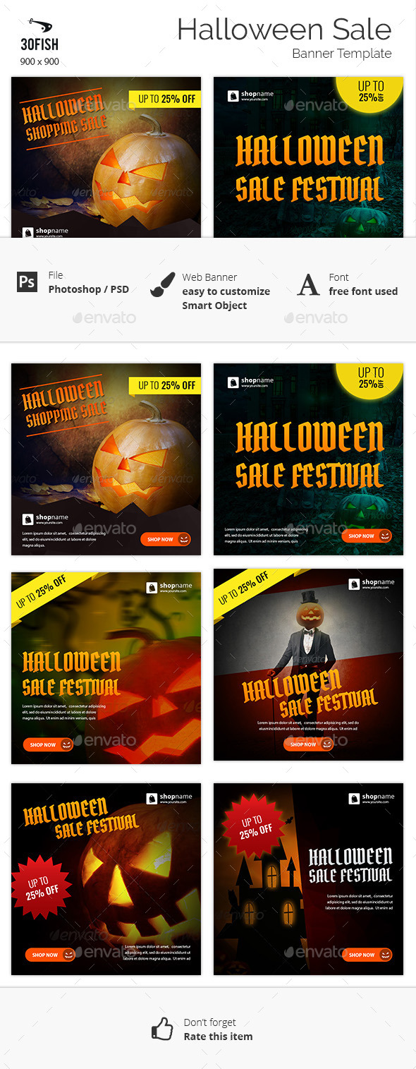 Halloween Sale Banner - Banners & Ads Web Elements