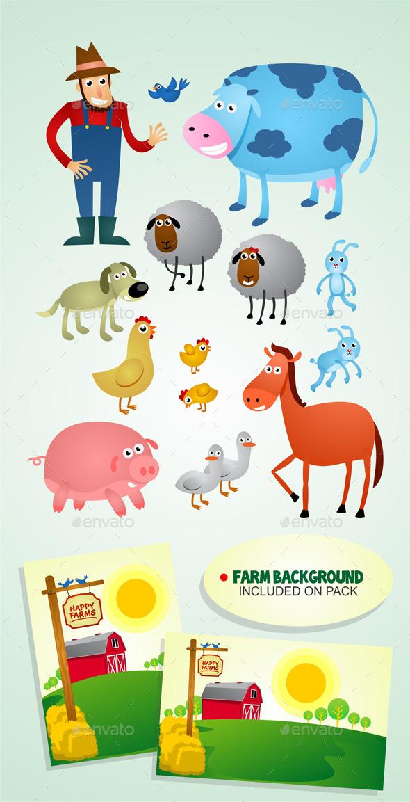 Happy Farms - Characters Vectors