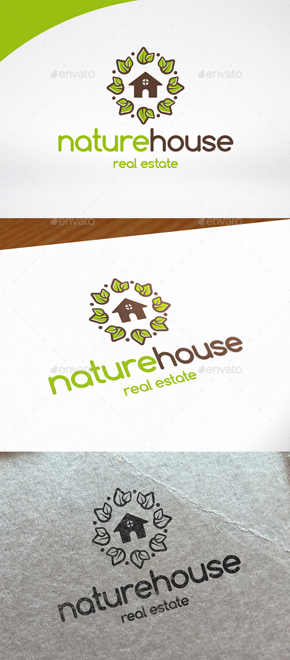 Nature House Logo Template - Buildings Logo Templates