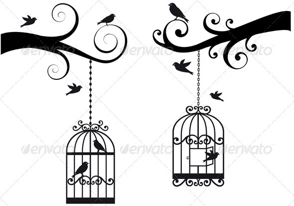 Branches With Birdcages - Animals Characters