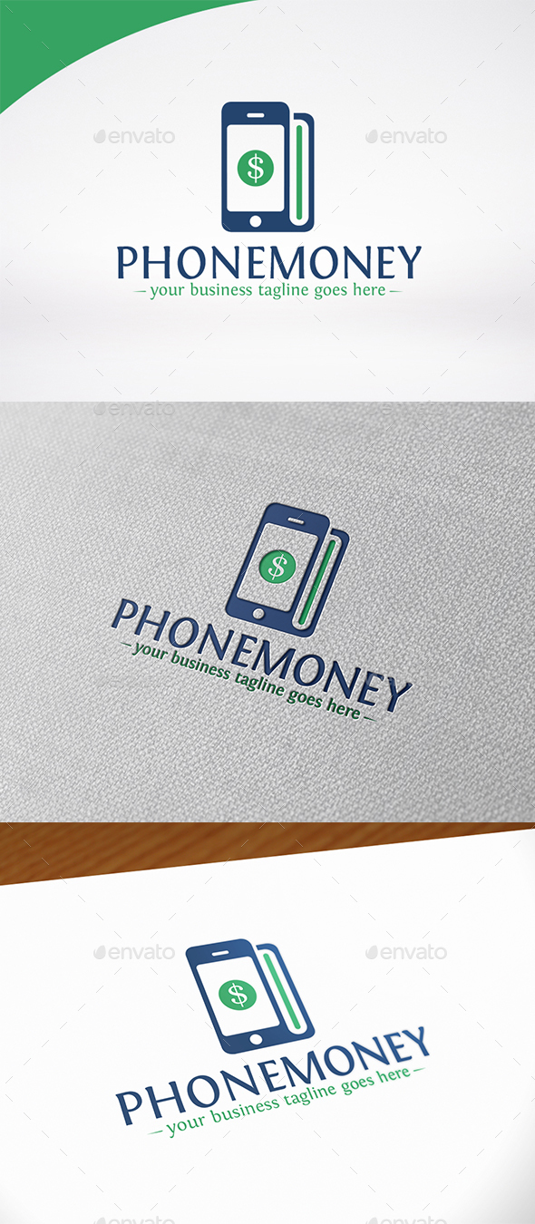 Phone Money Logo Template - Objects Logo Templates
