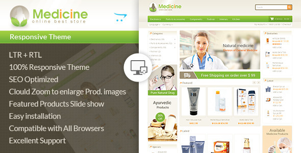 Image of Medicine - Opencart Responsive Template