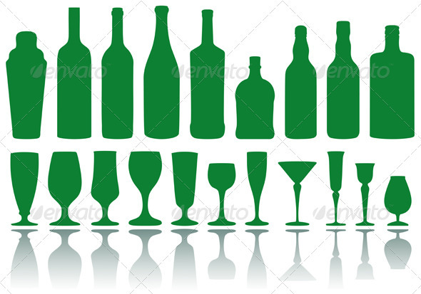Bottles And Glasses - Man-made Objects Objects