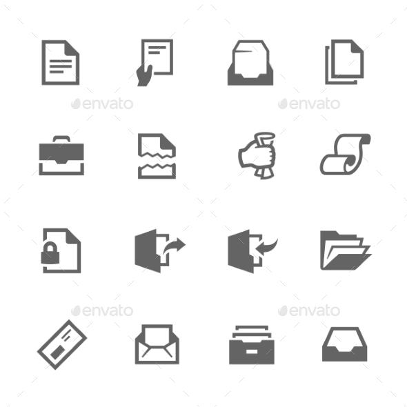 Documents Icons - Objects Icons