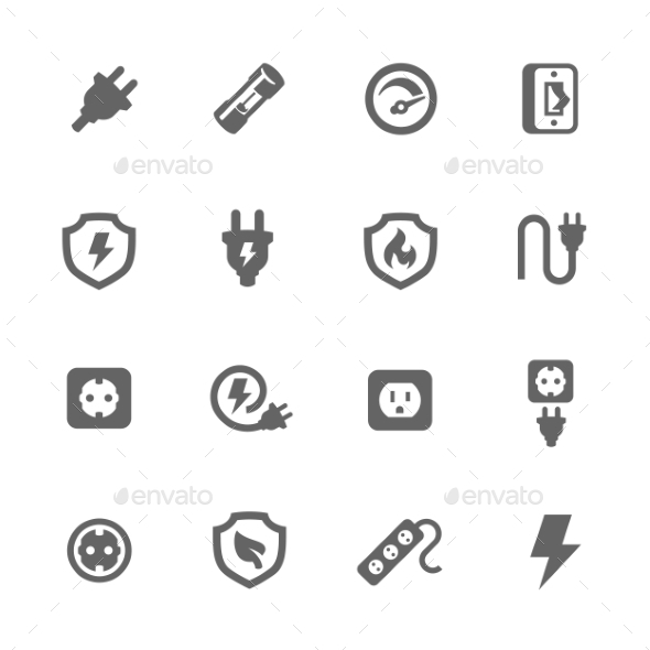 Electro Sockets - Objects Icons