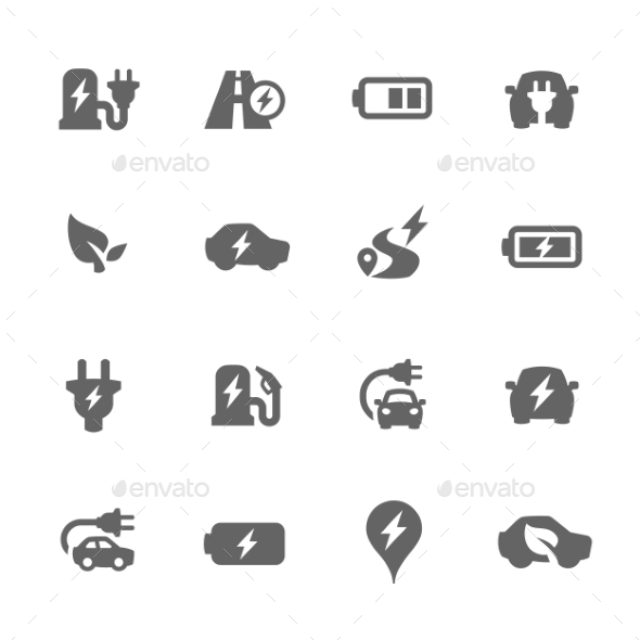 Electrocar Icons - Objects Icons