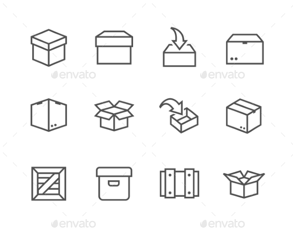 Box And Crates Icons - Objects Icons