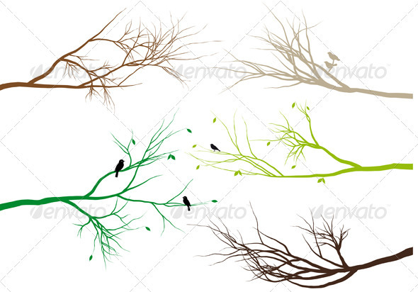 Vector Tree Branches - Flowers & Plants Nature