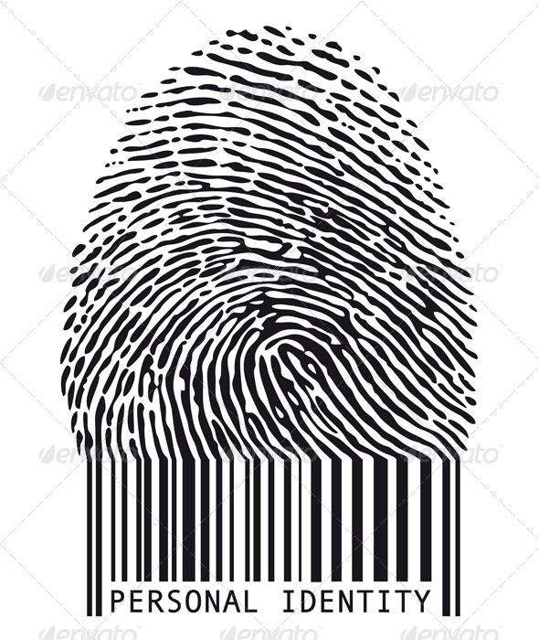 Fingerprint With Barcode - Technology Conceptual