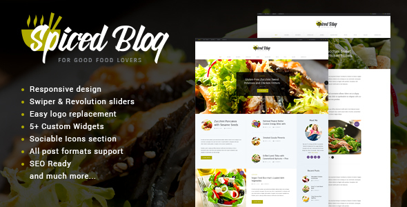 Spiced Blog – WordPress Personal Blog Theme