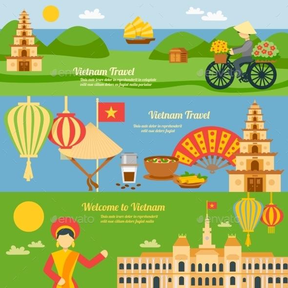 Vietnam Banner Set - Travel Conceptual
