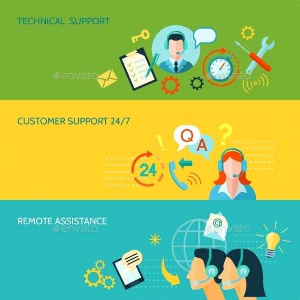 Customer Support And Technical Assistance - Miscellaneous Vectors
