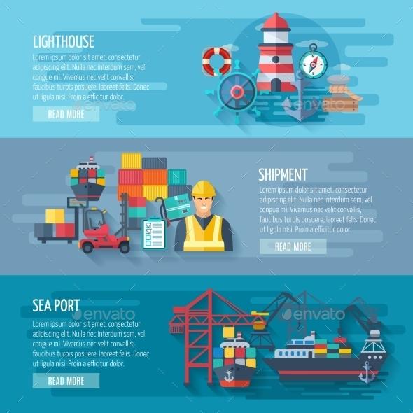 Sea Port Banner - Miscellaneous Vectors