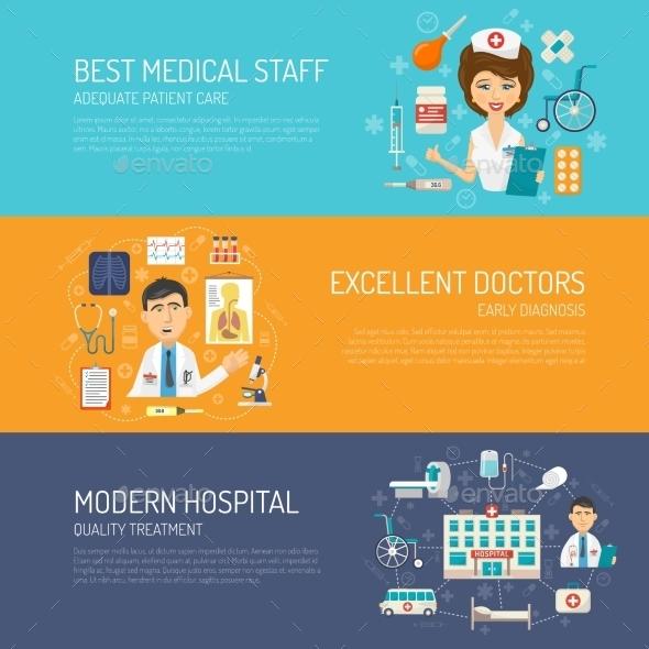 Medical Banner Set - Health/Medicine Conceptual