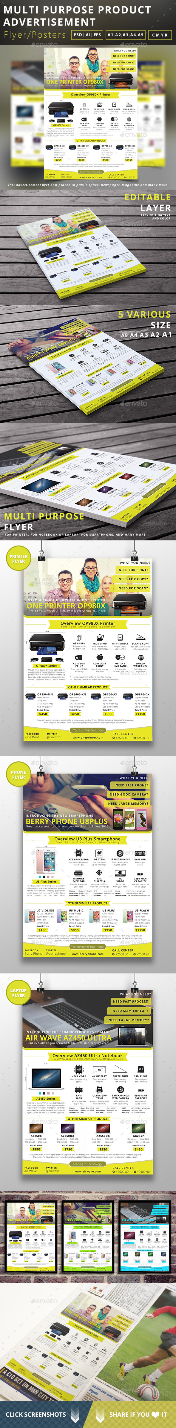 Multipurpose Product Advertisement Flyer - Commerce Flyers