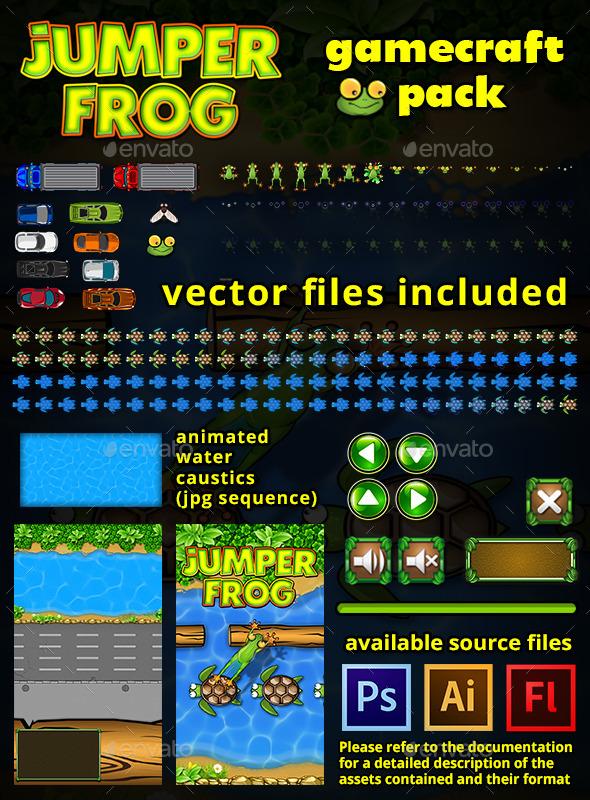 Jumper Frog Game Assets  - Game Kits Game Assets