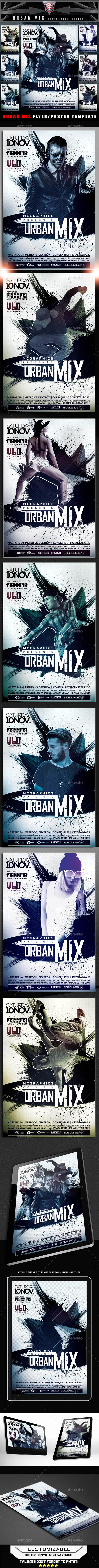Urban Mix Flyer Template - Flyers Print Templates