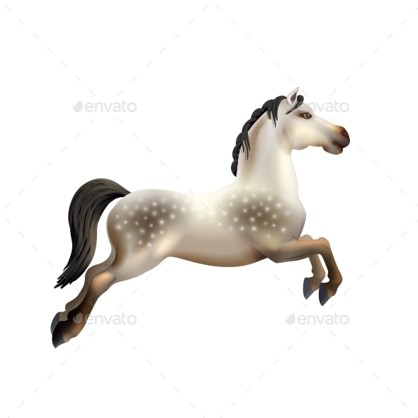 Carousel Horse Isolated - Objects Vectors