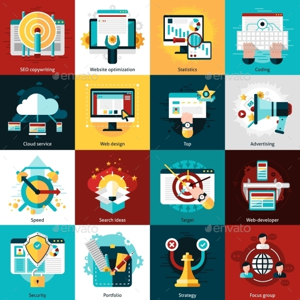 Seo Development Icons - Computers Technology