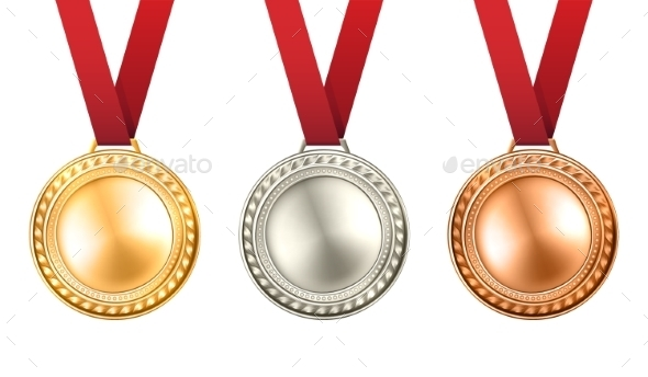 Medals Set Illustration  - Man-made Objects Objects