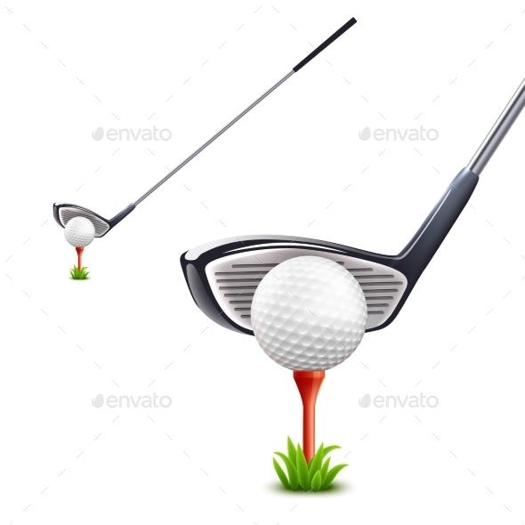 Golf Realistic Set - Sports/Activity Conceptual
