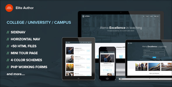 ATENA - College, University and Campus template - Corporate Site Templates