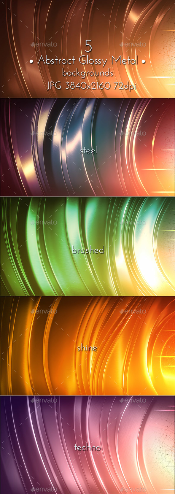 Brushed Metal Glossy Background - Tech / Futuristic Backgrounds