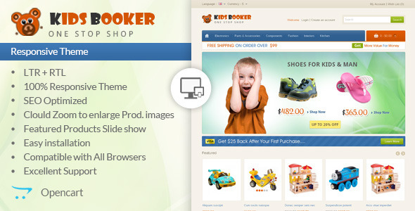 Kids Bookers - Opencart Responsive Theme - OpenCart eCommerce