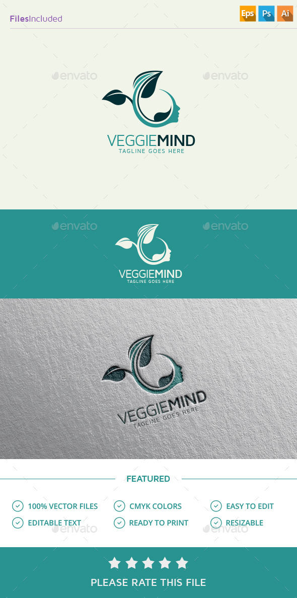 Green Mind Logo - Humans Logo Templates