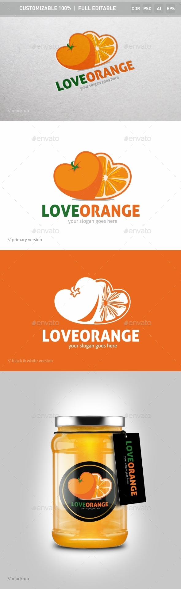 Lovely Orange Logo Template - Objects Logo Templates