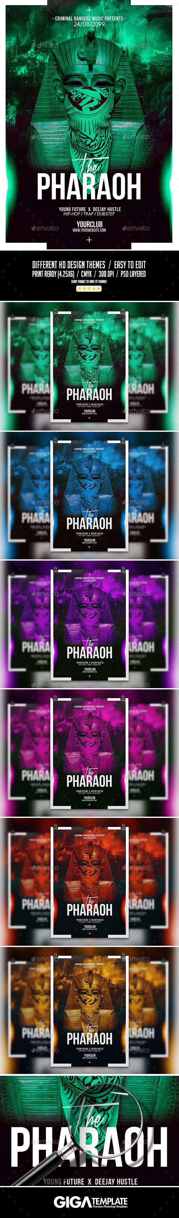 The Pharaoh | Hip-Hop Modern Flyer PSD Template - Events Flyers