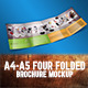 A4-A5 Four Folded Brochure Mockup - GraphicRiver Item for Sale